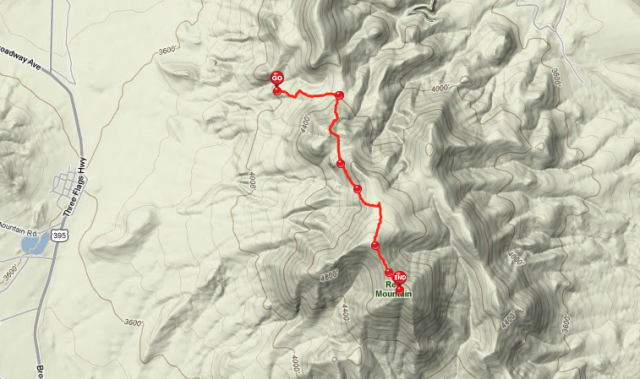Red Mountain GPS Track on Everytrail