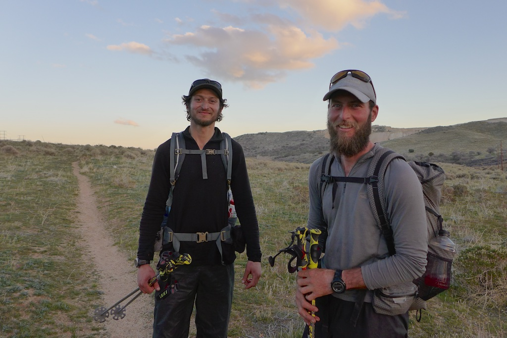 """Justin """"Trauma"""" Lichter and Shawn """"Pepper"""" Forry at Tehachapi-Willow Springs Road"""