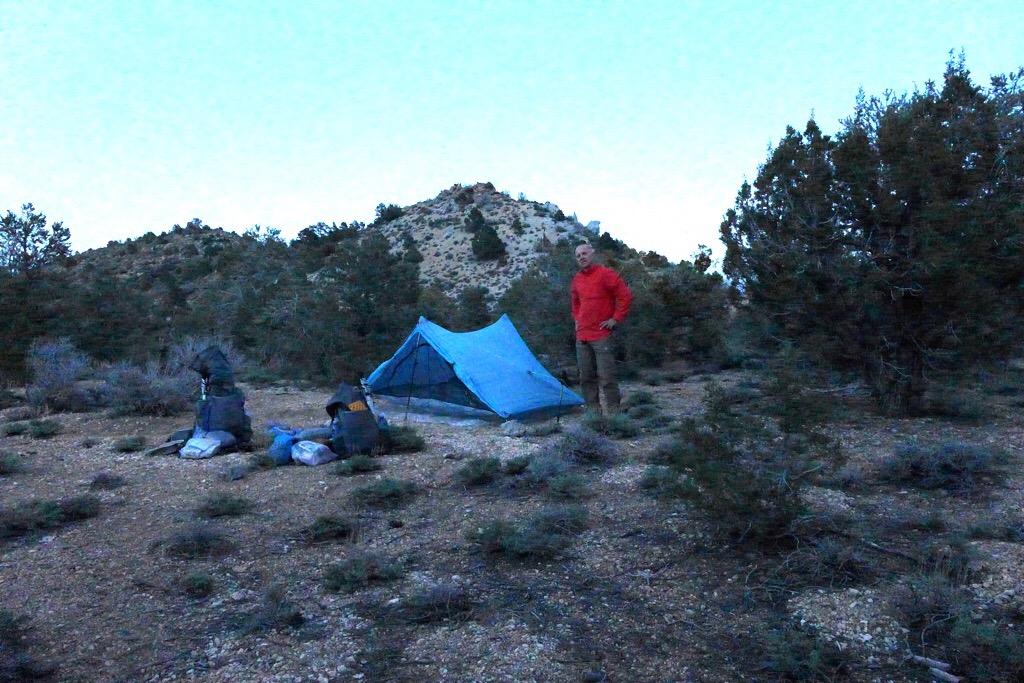 Campsite on ridge
