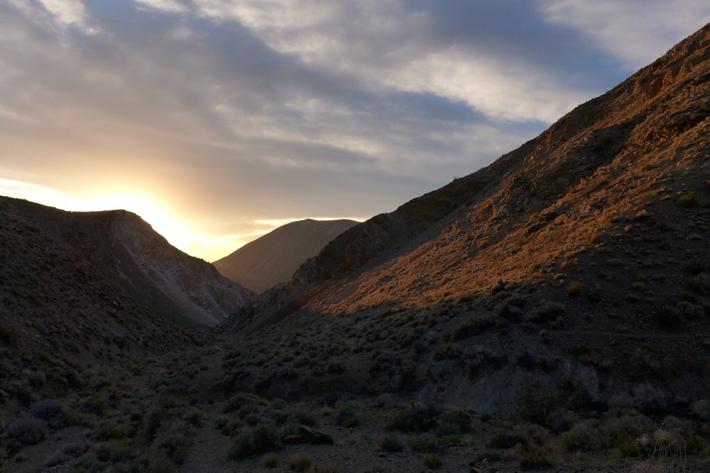 Sunset in Tuber Canyon