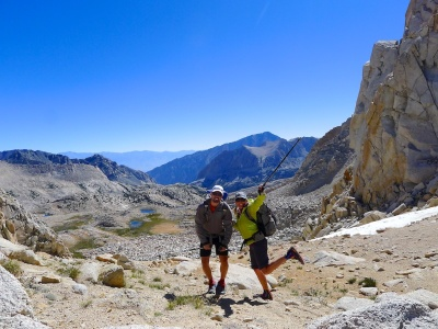 top of col between Granite Park & Bear Lakes Basin