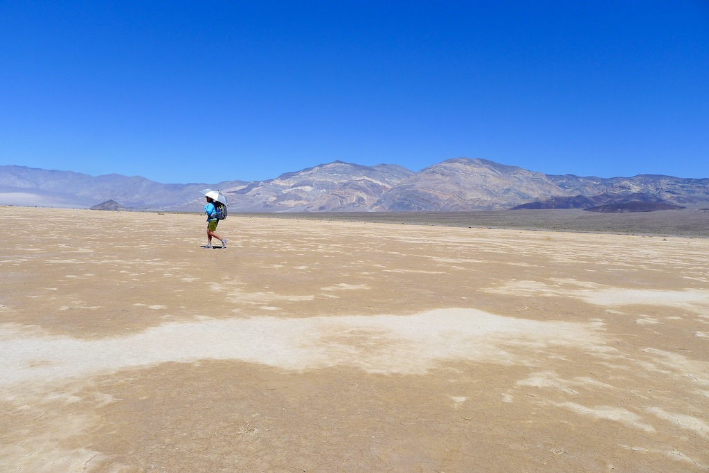 Panamint Valley: Crossing dry lake bed