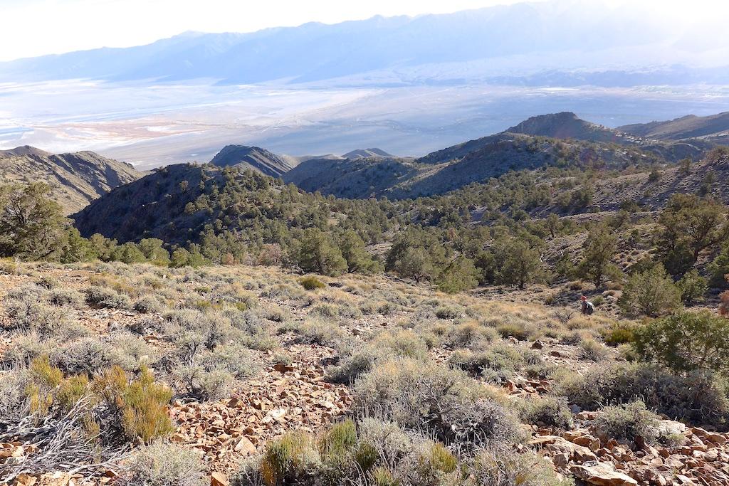 Looking down at Long John Canyon