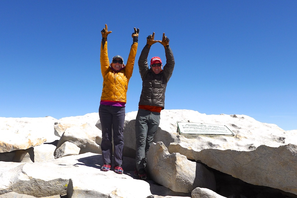 Celebrating finishing L2H on top of Mount Whitney